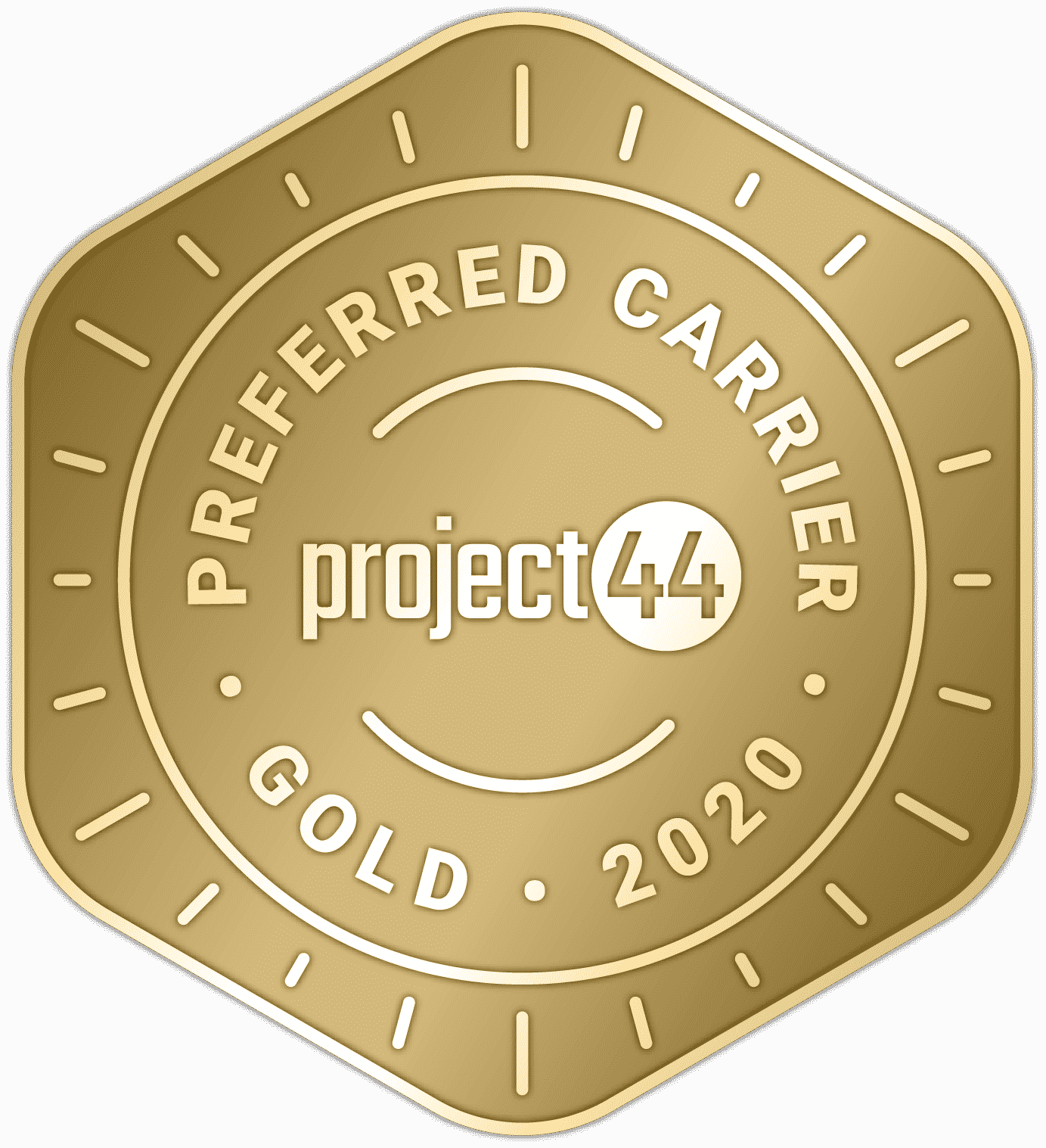 P44 Preferred Carrier Badge Gold 2020 | FW Logistics